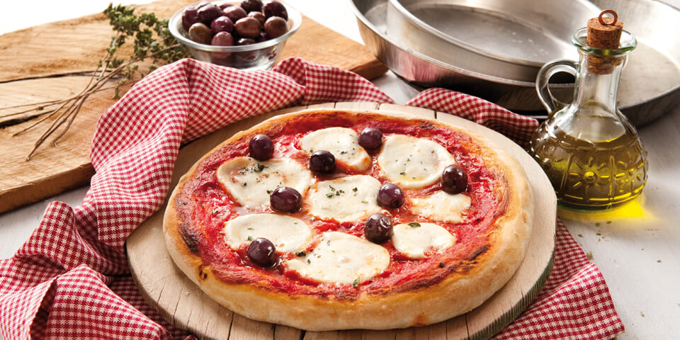 Pizza with Galbani Mozzarella & Olives - Recipe by Galbani Australia