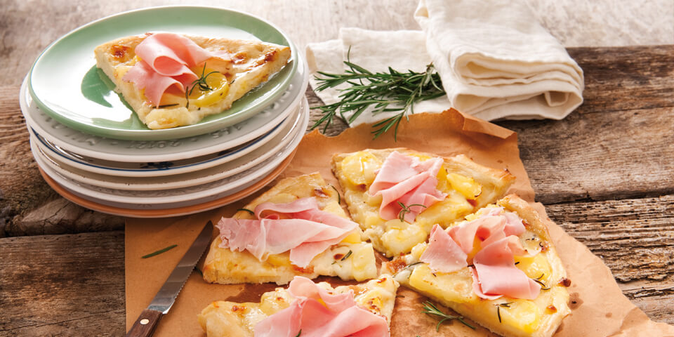 Potato Pizza with Prosciutto Recipe by Galbani Australia